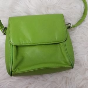 Wilson's, the Leather Expert, Lime Green Crossbody